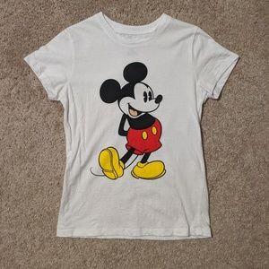 Mickey mouse t-shirt size small white shirt